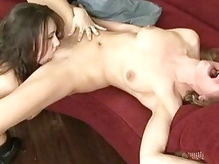 exotic blonde lesbo receives her shaggy nookie