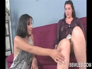 shy lesbian legal age teenager gets enticed by