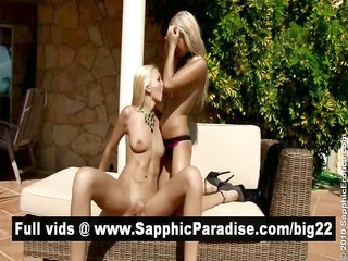 cute golden-haired lesbians anal licking and