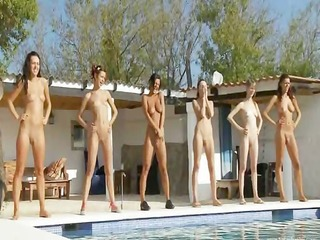 six s garb nubiles by the pool from russian