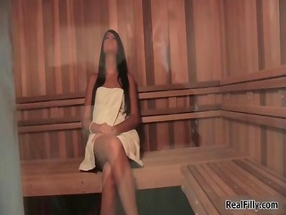 super sexy lesbian sex scene in a sauna part1